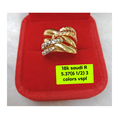 Picture of 18K - Saudi Gold Ring- SR5.37G(6.5)