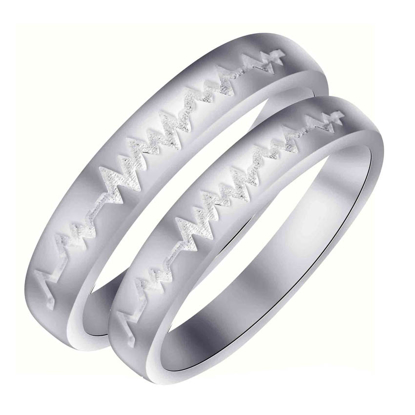 Picture of 925 Silver, Couple Ring- CS-023