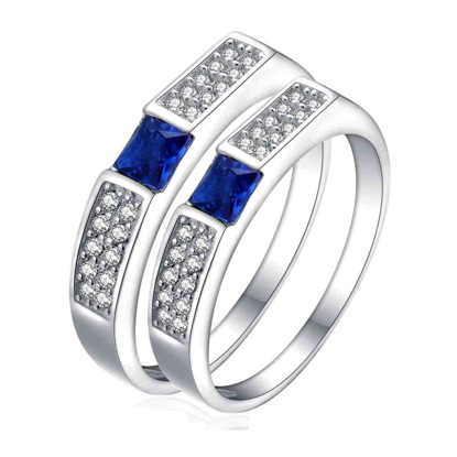 Picture of 925 Silver, Couple Ring- CS-033