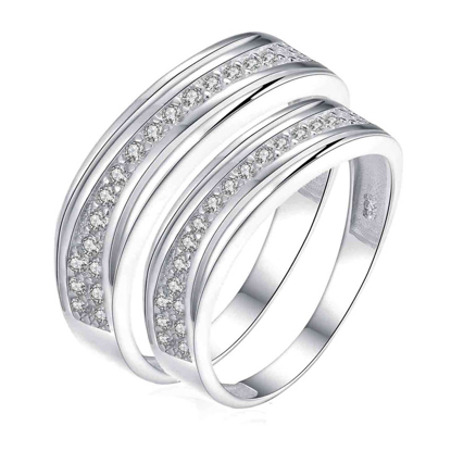 Picture of 925 Silver, Couple Ring- CS-034