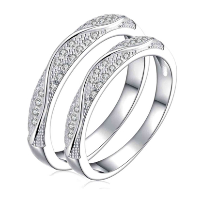 Picture of 925 Silver, Couple Ring- CS-036