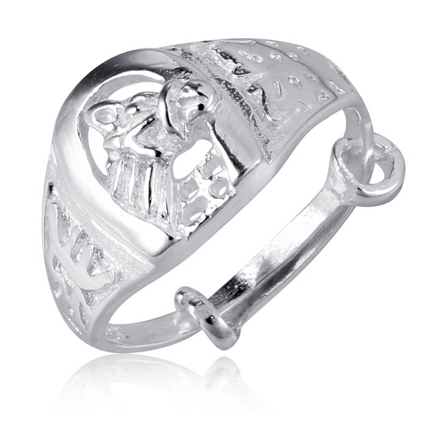 Picture of 925 Silver Jewelry,Kids Ring- SR-469