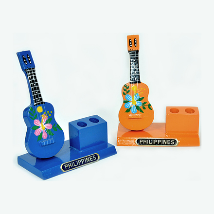 图片 Wooden Guitar Pen Holder- 0072-0256