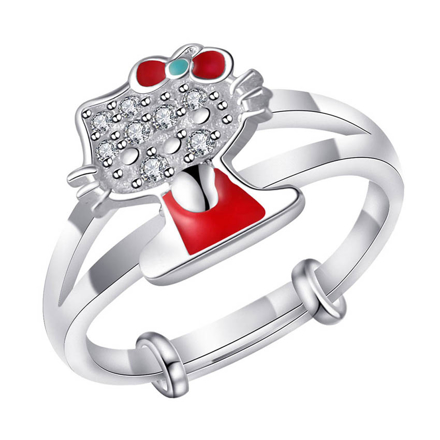 Picture of 925 Silver Jewelry,Kids Ring- SR-481