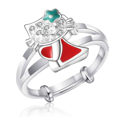 Picture of 925 Silver Jewelry,Kids Ring- SR-485