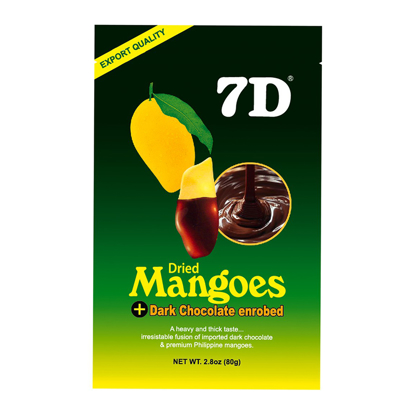 Picture of 7D Dried Mangoes & Chocolate Mix , Cebu 7D Dried Mangoes & Chocolate Mix ( 80 grams /pack)