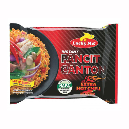 Picture of Lucky Me Pancit Canton Extra Hot Chili  Flavor 80g