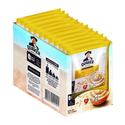 图片 Quaker Flavored Oatmeal Banana & Honey 33g (Pack of 12)