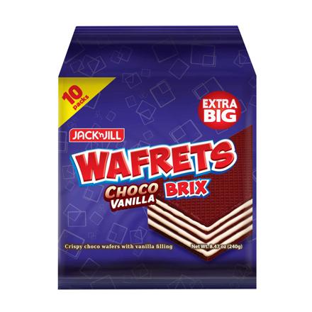 图片 JACK 'N JILL Wafrets Brix Choco Vanilla 10s (24g x 10)