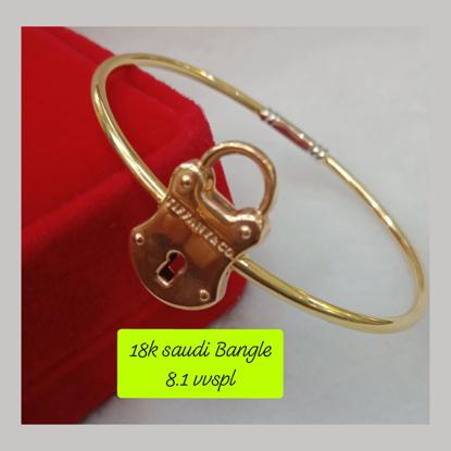 Picture of 18K - Saudi Gold Bangle -  SB8.1G