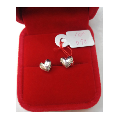 Picture of 18K - Saudi White Gold Earrings 0.98g- SE098G