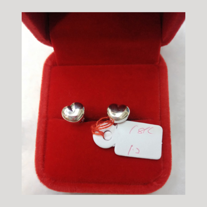 Picture of 18K - Saudi White Gold Earrings 1.2g- SE12G