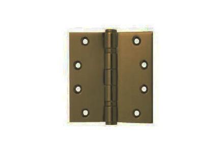 图片 Yale 2 Ball Bearing Button Tipped Door Hinge 2BB 4X4X2 MM ABSS'