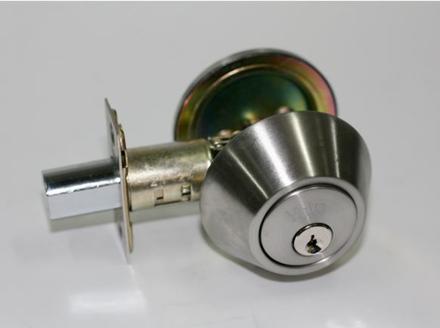 图片 Yale Deadbolt Single Cylinder Satin Stainless Steel
