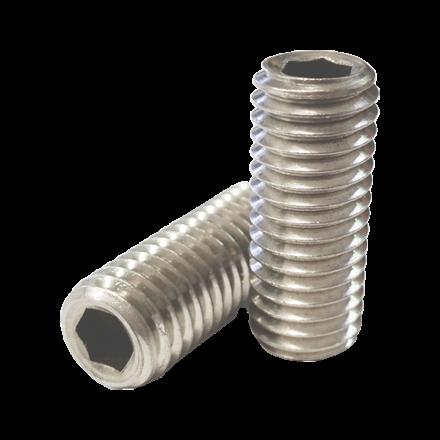 图片 304 Stainless Steel Hex Allen Head Socket Set Screw Bolts with Internal Hex Drive, Allen Socket Set Screws, Size In Inches