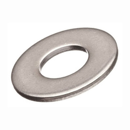 图片 10 Pcs  Stainless Steel Flat Washer, 316 Stainless Flat Washer, Inches Size