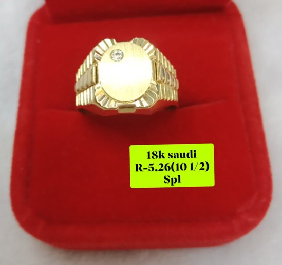 Picture of 18K Saudi Gold Ring, Size 10 1/2, 5.26g, 207R1012526