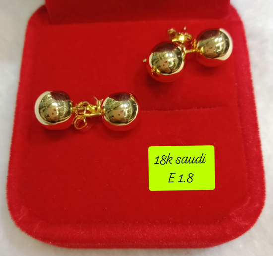 Picture of 18K Saudi Gold Earrings, 1.8g, 207E2