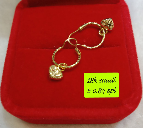 Picture of 18K Saudi Gold Earrings, 0.84g, 207E084