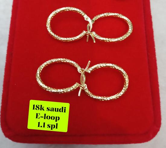 Picture of 18K Saudi Gold Earrings, 1.1g, 207ELOOP11