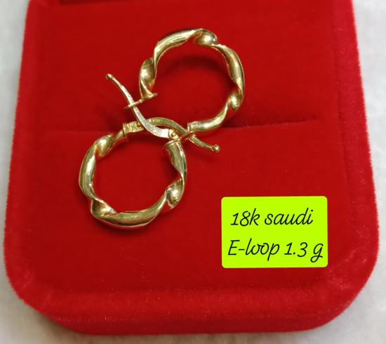 Picture of 18K Saudi Gold Earrings, 1.3g, 207ELOOP13