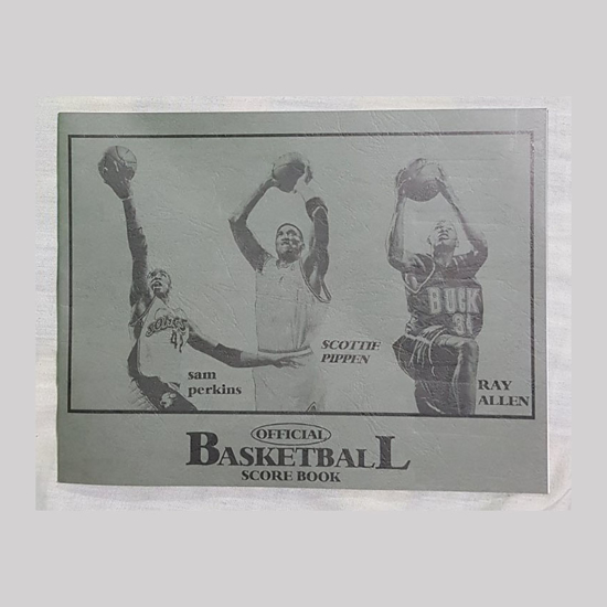 Picture of Big Official Basketball Score Book, U04BOBSB