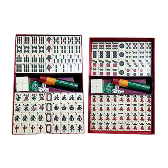Picture of Solid One Piece Mahjong Set with Number, Ivory Color, U04MWN