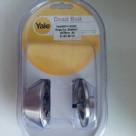 图片 Yale V8111 US32D, Single Cylinder Deadbolt Lock, V8111US32D