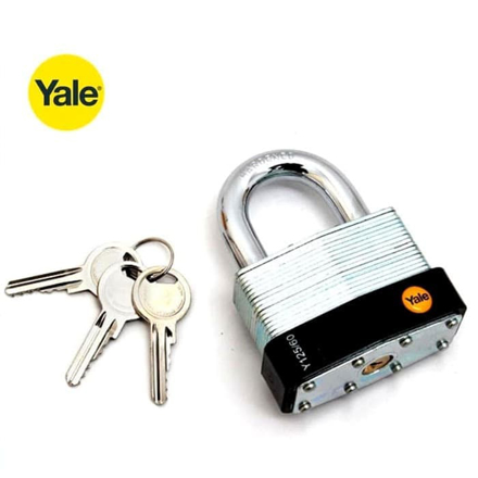 图片 Yale Y125/60/133/1, Classic Series Outdoor Laminated Steel Padlock 60mm, Y125601331
