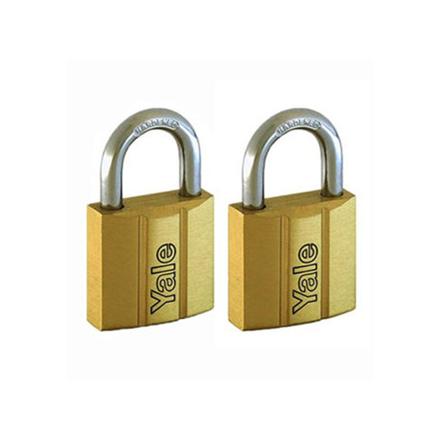 图片 Yale V140.25 KA2, Standard Shackle Brass Padlocks 140 Series Key Alike 2, V14025KA2