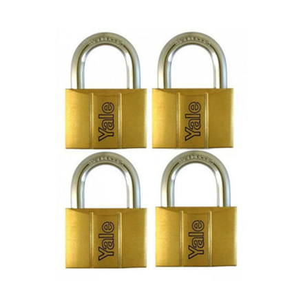 圖片 Yale V140.30 KA4, Standard Shackle Brass Padlocks 140 Series Key Alike 4, V14030KA4