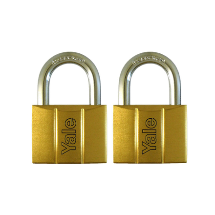 圖片 Yale V140.50 KA2, Standard Shackle Brass Padlocks 140 Series Key Alike 2, V14050KA2
