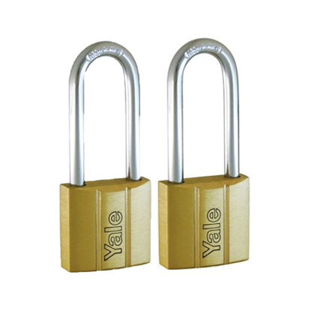 圖片 Yale V140.40 LS60 KA2, Long Shackle Brass Padlocks 140 Series Key Alike 2, V14040LS60