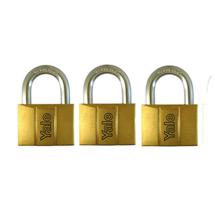 圖片 Yale V140.50 KA3, Standard Shackle Brass Padlocks 140 Series Key Alike 3, V14050KA3