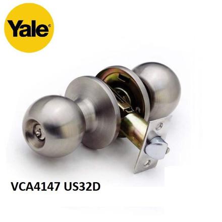 图片 YALE VCA4147 US32D, VCA4147 US11, VCA4147 US5, Stainless Steel Cylindrical Knobset, VCA4147US32D