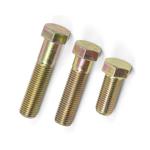 图片 Zinc Plated Hex Cap Screw,Metric Yellow Zinc Hexagonal Cap Screw, Metric cap screw