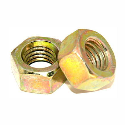 图片 Grade 4.8 Zinc Plated Nut, Metric Hex nut,yellow Zinc Nut