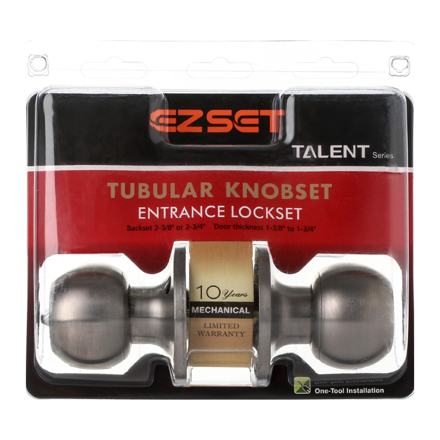 图片 Talent Entrance Tubular Knobset, EZTLT300SS