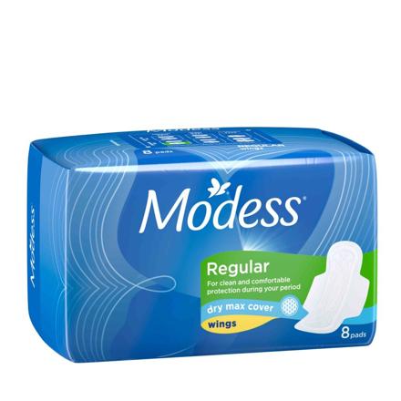 图片 Modess Dry Max Max Sanitary Napkins 8s, MOD76