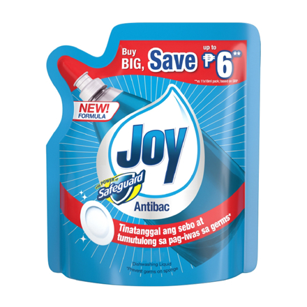 Picture of Joy Antibac with Power of Safeguard Dishwashing Liquid, JOY32