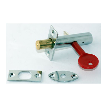 图片 Stanley 16 X 60MM Tube Lock Zinc Alloy, Bright Chrome, ST1411011