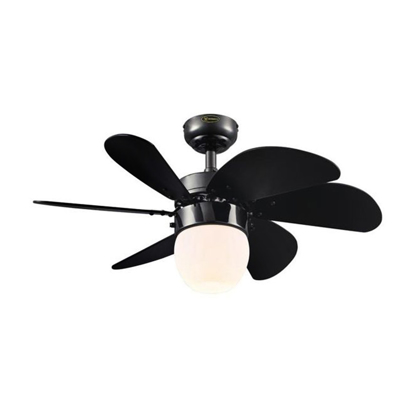 """Picture of Westinghouse Turbo Swirl 30"""" Black Ceiling Fan, WH6T30BKD"""