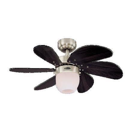 """圖片 Westinghouse Turbo Swirl 30"""" Satin Chrome Ceiling Fan, WH72560"""