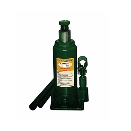 图片 S-Ks Tools USA 15 Tons Hydraulic Bottle Jack (Green), JM-10015SH