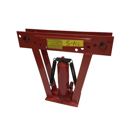 """圖片 S-Ks Tools USA Heavy Duty 12 Tons Hydraulic Pipe Bender (Black/Red), JM-8012-2"""""""