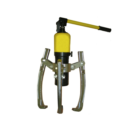 图片 S-Ks Tools USA Heavy Duty 10 Tons 3 Arms Hydraulic Gear Puller (Black/Yellow), JMHHL-10