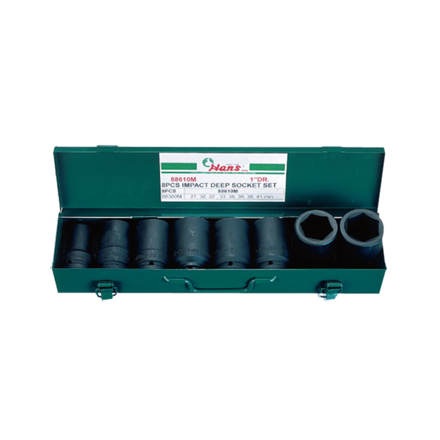 "圖片 Hans 1"" Drive 8 Pcs. Deep Impact Socket Set-Metric Size, 88610M"