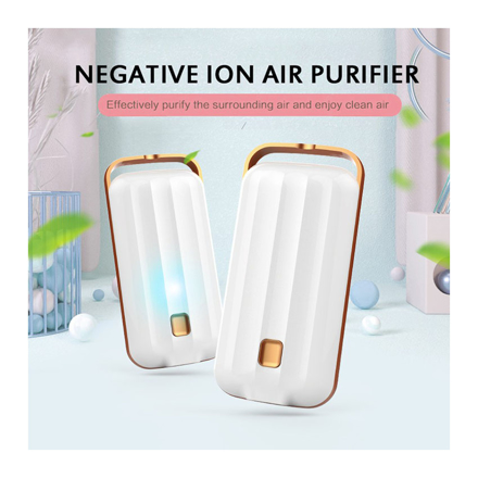 图片 Anion Air Purifier Necklace Portable, Air Purifier Small Neck, Air Purifier Prevent PM2.5 Formaldehyde Necklace, UE04AIRF2