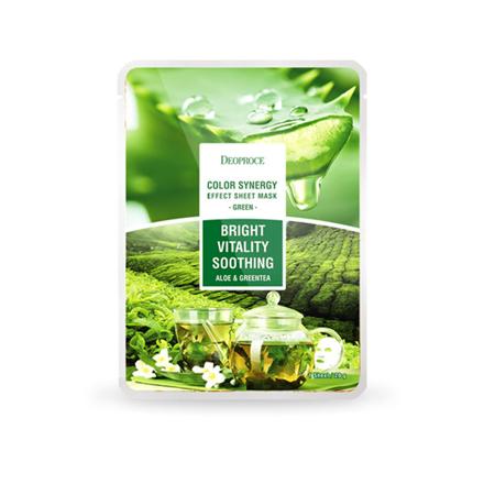 图片 Deoproce Color Synergy Sheet Mask Bright Vitality Soothing (Green), 38054367