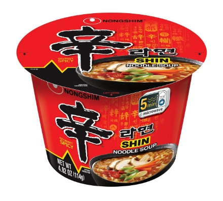 图片 Nongshim Shin Ramyun Big Bowl Spicy Mushroom 114g Korean Noodles, Instant Korean noodles ramen, Korean food Korean products, Korean noodles, Korean food ready to eat spicy noodles